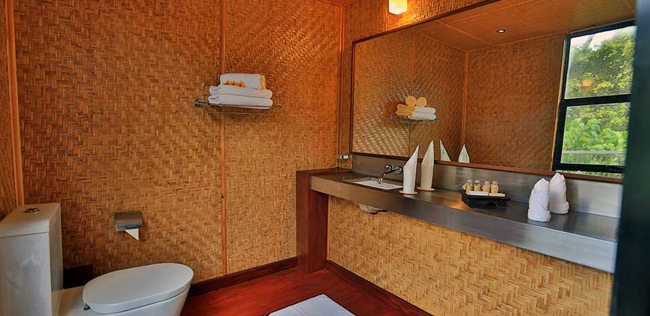 Fresh towels and hygienic facilities for the guests