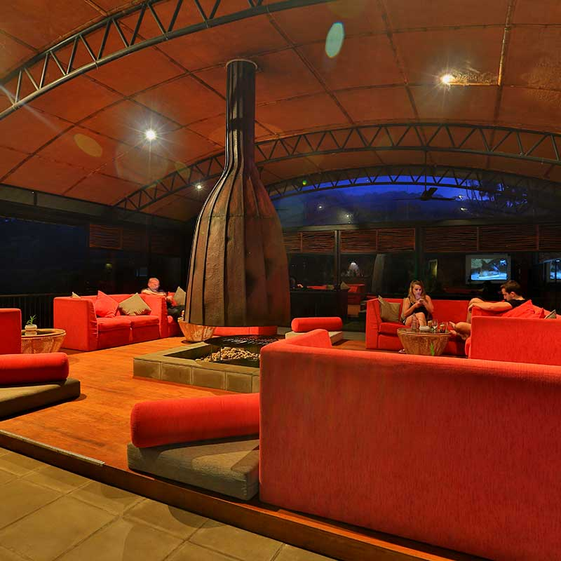 Lounge area for the guests to relax