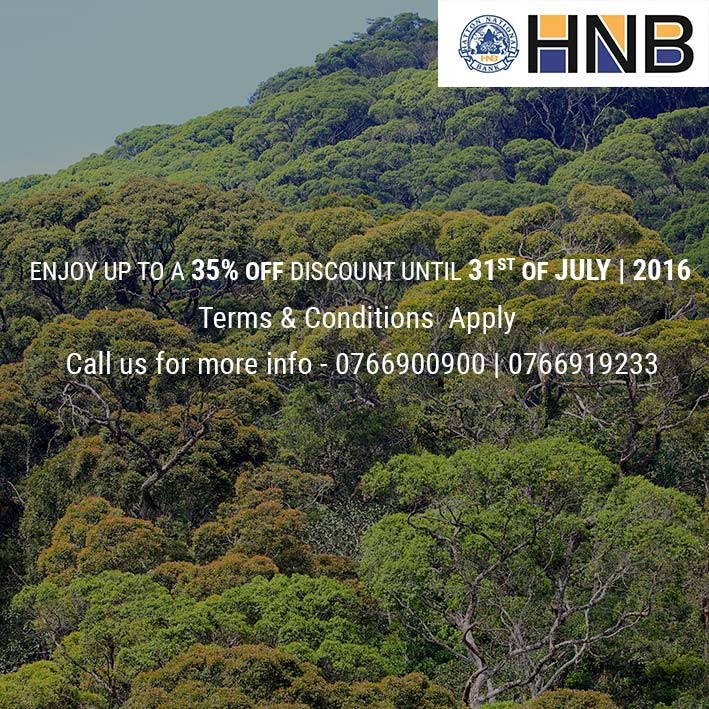 35% off on HNB debit & credit
