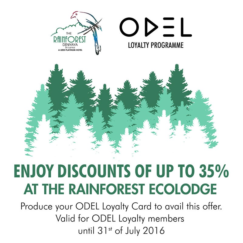 35% off for ODEL Loyalty Card holders