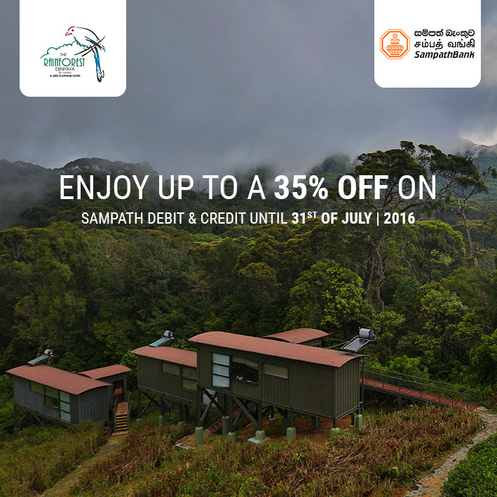 35% off on Sampath debit & credit