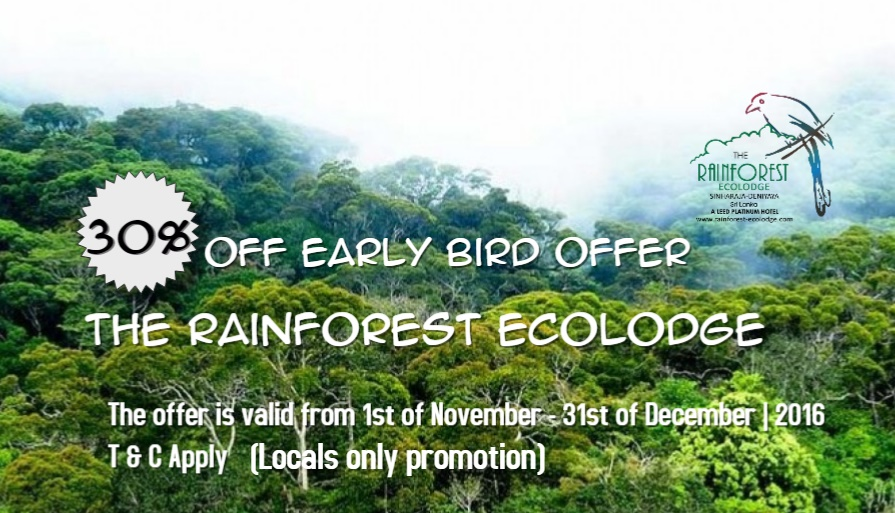30% Off Early Bird Offer (Locals Only Promotion)