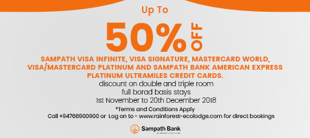 Sampath Bank 50% Offer