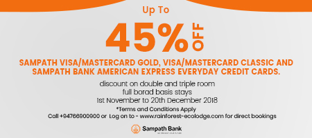 Sampath Bank 45% Offer